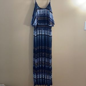 Never worn! Blue patterned beach dress